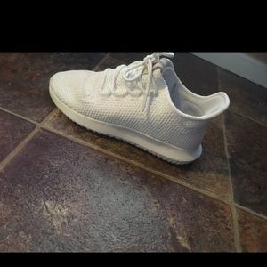 All white adidas size 71/2 in women